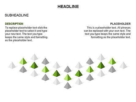 Lined Up Pyramids Toolbox, Slide 21, 03397, Shapes — PoweredTemplate.com