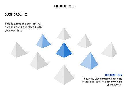 Lined Up Pyramids Toolbox, Slide 22, 03397, Shapes — PoweredTemplate.com
