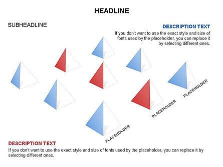 Lined Up Pyramids Toolbox, Slide 23, 03397, Shapes — PoweredTemplate.com