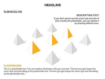 Lined Up Pyramids Toolbox, Slide 24, 03397, Shapes — PoweredTemplate.com