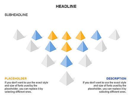 Lined Up Pyramids Toolbox, Slide 25, 03397, Shapes — PoweredTemplate.com