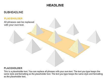 Lined Up Pyramids Toolbox, Slide 26, 03397, Shapes — PoweredTemplate.com