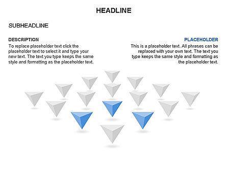 Lined Up Pyramids Toolbox, Slide 27, 03397, Shapes — PoweredTemplate.com