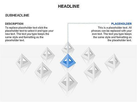 Lined Up Pyramids Toolbox, Slide 28, 03397, Shapes — PoweredTemplate.com