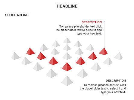 Lined Up Pyramids Toolbox, Slide 29, 03397, Shapes — PoweredTemplate.com