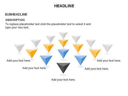 Lined Up Pyramids Toolbox, Slide 30, 03397, Shapes — PoweredTemplate.com