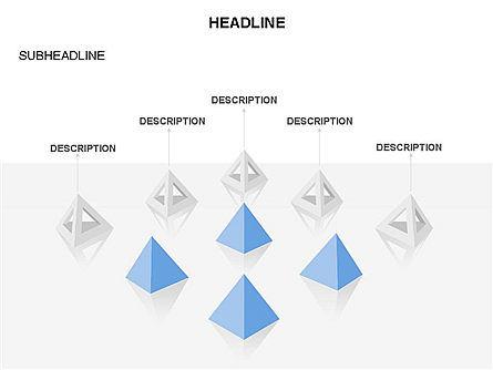 Lined Up Pyramids Toolbox, Slide 32, 03397, Shapes — PoweredTemplate.com