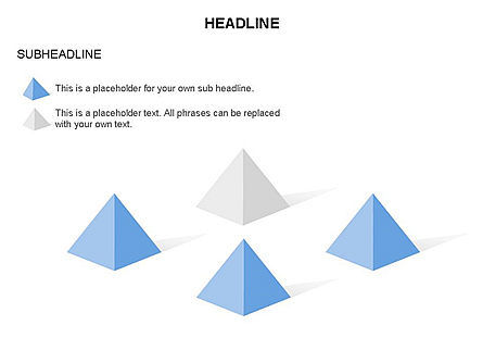 Lined Up Pyramids Toolbox, Slide 5, 03397, Shapes — PoweredTemplate.com