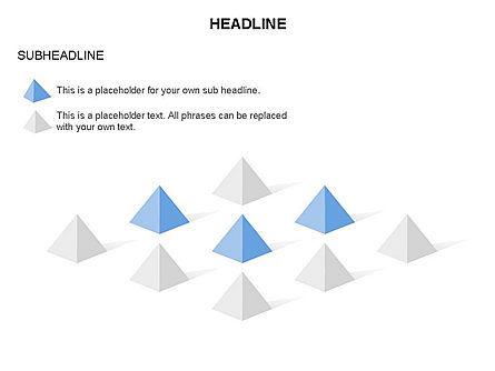 Lined Up Pyramids Toolbox, Slide 6, 03397, Shapes — PoweredTemplate.com