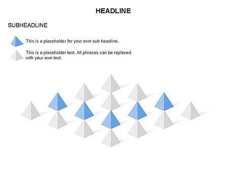 Lined Up Pyramids Toolbox, Slide 7, 03397, Shapes — PoweredTemplate.com