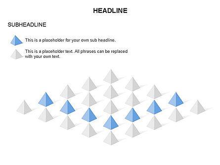 Lined Up Pyramids Toolbox, Slide 8, 03397, Shapes — PoweredTemplate.com