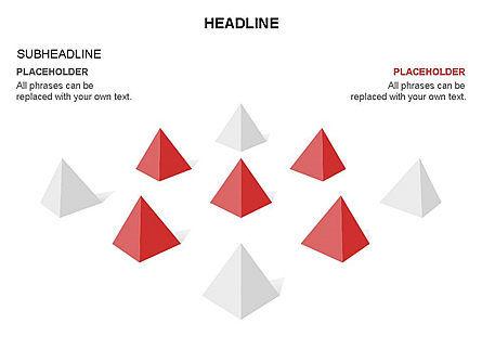 Lined Up Pyramids Toolbox, Slide 9, 03397, Shapes — PoweredTemplate.com