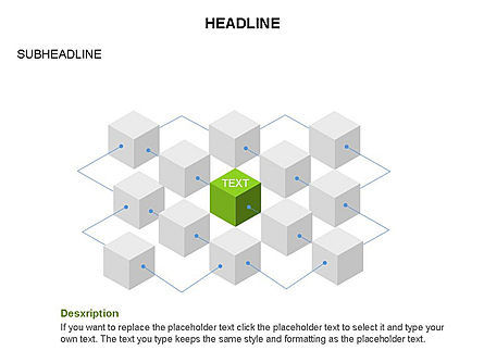 Honeycomb Cubes Toolbox, Slide 25, 03402, Shapes — PoweredTemplate.com