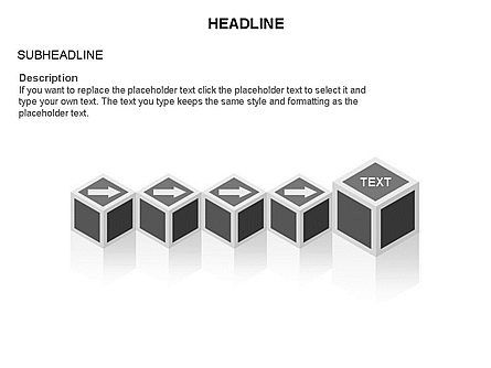 Honeycomb Cubes Toolbox, Slide 30, 03402, Shapes — PoweredTemplate.com