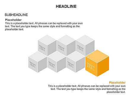 Honeycomb Cubes Toolbox, Slide 9, 03402, Shapes — PoweredTemplate.com