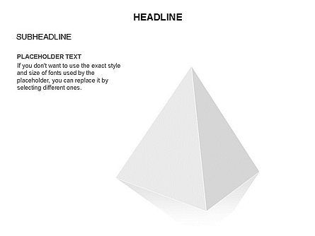 Layered 3D Pyramid Toolbox, 03403, Shapes — PoweredTemplate.com