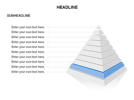 Layered 3D Pyramid Toolbox, Slide 10, 03403, Shapes — PoweredTemplate.com