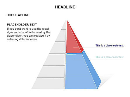 Layered 3D Pyramid Toolbox, Slide 20, 03403, Shapes — PoweredTemplate.com