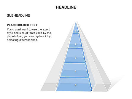 Layered 3D Pyramid Toolbox, Slide 21, 03403, Shapes — PoweredTemplate.com