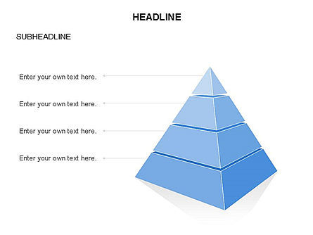 Layered 3D Pyramid Toolbox, Slide 23, 03403, Shapes — PoweredTemplate.com