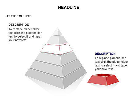 Layered 3D Pyramid Toolbox, Slide 25, 03403, Shapes — PoweredTemplate.com