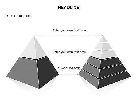 Layered 3D Pyramid Toolbox, Slide 26, 03403, Shapes — PoweredTemplate.com
