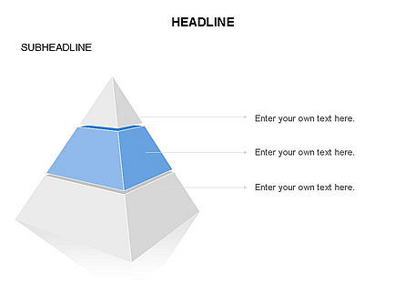 Layered 3D Pyramid Toolbox, Slide 3, 03403, Shapes — PoweredTemplate.com