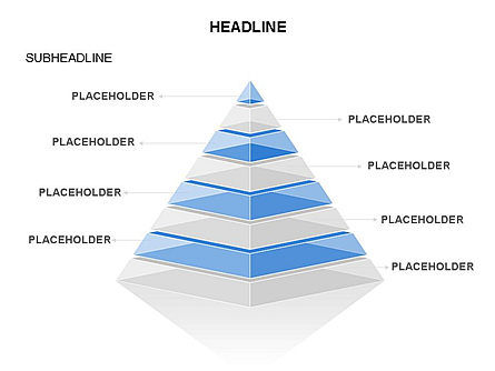 Layered 3D Pyramid Toolbox, Slide 34, 03403, Shapes — PoweredTemplate.com