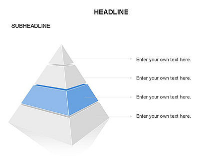 Layered 3D Pyramid Toolbox, Slide 4, 03403, Shapes — PoweredTemplate.com