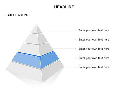 Layered 3D Pyramid Toolbox, Slide 5, 03403, Shapes — PoweredTemplate.com