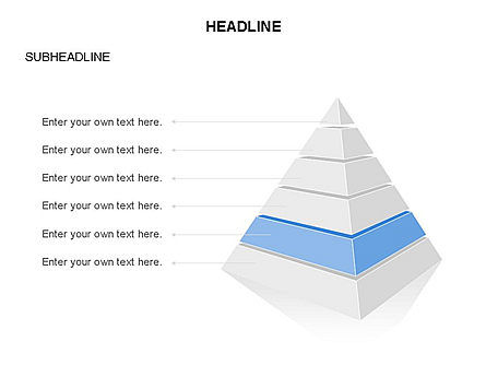 Layered 3D Pyramid Toolbox, Slide 6, 03403, Shapes — PoweredTemplate.com