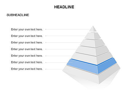 Layered 3D Pyramid Toolbox, Slide 7, 03403, Shapes — PoweredTemplate.com