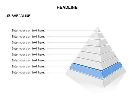 Layered 3D Pyramid Toolbox, Slide 8, 03403, Shapes — PoweredTemplate.com