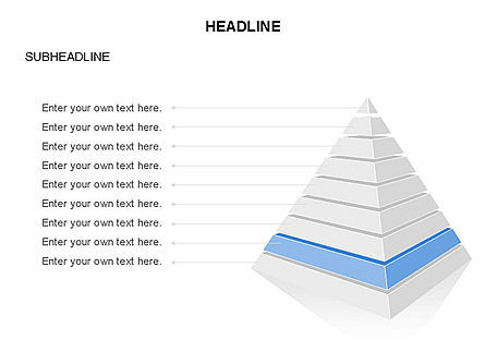 Layered 3D Pyramid Toolbox, Slide 9, 03403, Shapes — PoweredTemplate.com