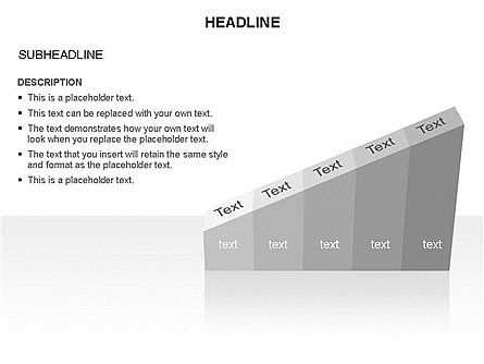 Ramp Chart Toolbox, Slide 11, 03404, Stage Diagrams — PoweredTemplate.com