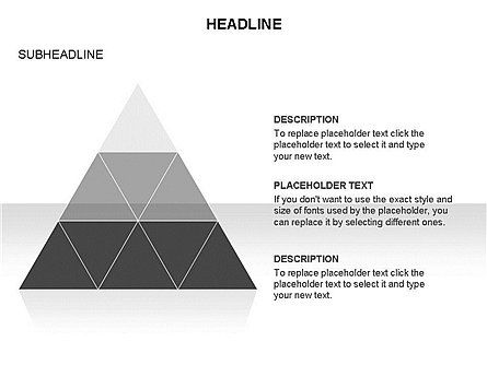 Pyramids and Triangles Toolbox, Slide 12, 03405, Shapes — PoweredTemplate.com