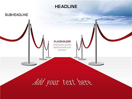 Red Carpet Toolbox, Slide 13, 03406, Shapes — PoweredTemplate.com