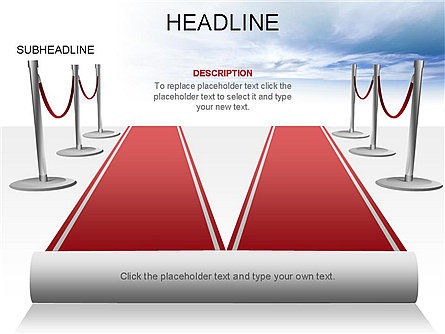 Red Carpet Toolbox, Slide 15, 03406, Shapes — PoweredTemplate.com