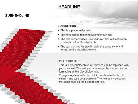 Red Carpet Toolbox, Slide 3, 03406, Shapes — PoweredTemplate.com