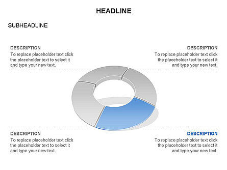 Donut Chart Toolbox, Slide 14, 03407, Pie Charts — PoweredTemplate.com