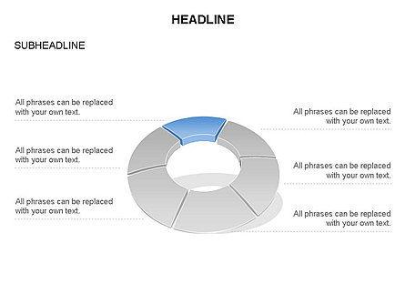 Donut Chart Toolbox, Slide 16, 03407, Pie Charts — PoweredTemplate.com