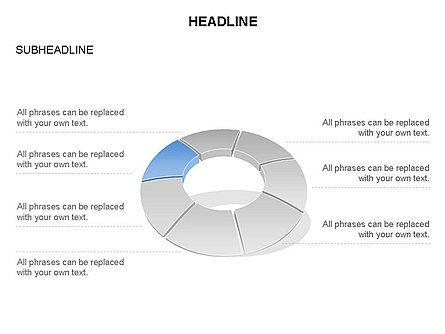Donut Chart Toolbox, Slide 17, 03407, Pie Charts — PoweredTemplate.com