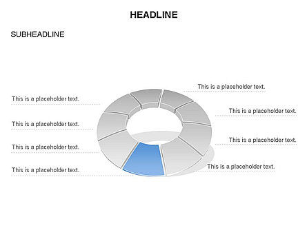 Donut Chart Toolbox, Slide 19, 03407, Pie Charts — PoweredTemplate.com