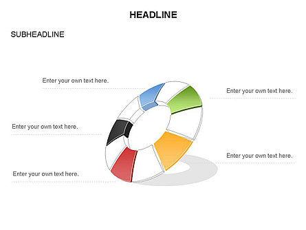 Donut Chart Toolbox, Slide 38, 03407, Pie Charts — PoweredTemplate.com