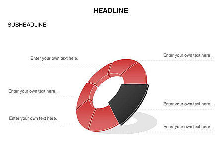Donut Chart Toolbox, Slide 39, 03407, Pie Charts — PoweredTemplate.com