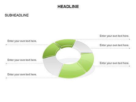 Donut Chart Toolbox, Slide 44, 03407, Pie Charts — PoweredTemplate.com