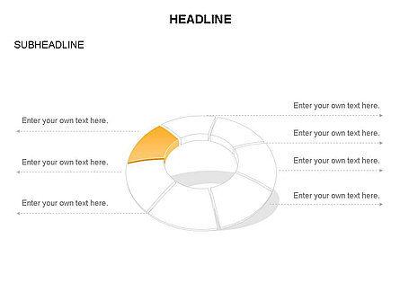 Donut Chart Toolbox, Slide 49, 03407, Pie Charts — PoweredTemplate.com