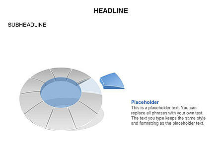 Donut Chart Toolbox, Slide 50, 03407, Pie Charts — PoweredTemplate.com