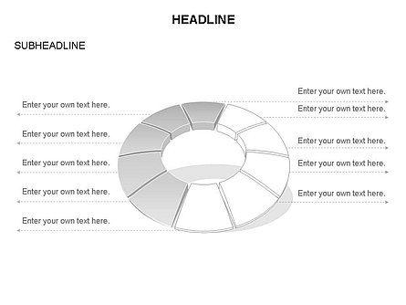 Donut Chart Toolbox, Slide 52, 03407, Pie Charts — PoweredTemplate.com