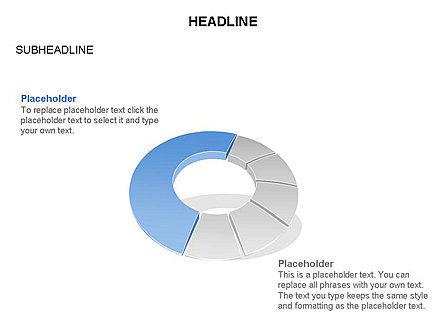 Donut Chart Toolbox, Slide 54, 03407, Pie Charts — PoweredTemplate.com